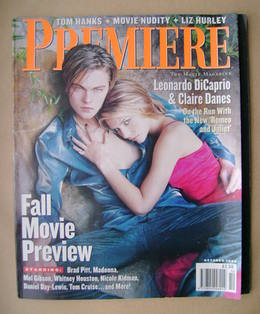 Premiere magazine - Leonardo DiCaprio and Claire Danes cover (October 1996)