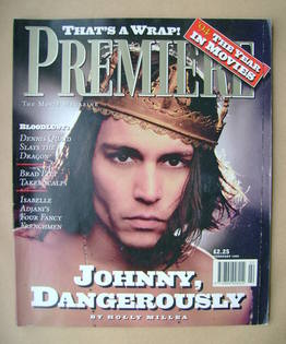 Premiere magazine - Johnny Depp cover (February 1995)