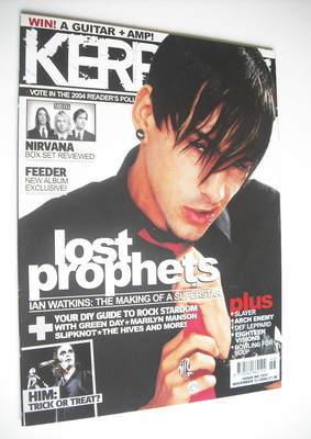 <!--2004-11-13-->Kerrang magazine - Ian Watkins cover (13 November 2004 - I