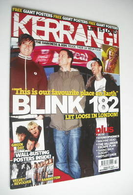 <!--2004-12-11-->Kerrang magazine - Blink 182 cover (11 December 2004 - Iss