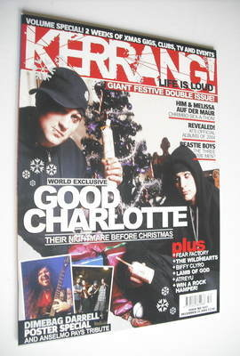 <!--2004-12-25-->Kerrang magazine - Good Charlotte cover (25 December 2004