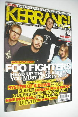 <!--2005-01-08-->Kerrang magazine - Foo Fighters cover (8 January 2005 - Is
