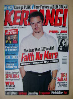 <!--1998-05-09-->Kerrang magazine - Mike Patton cover (9 May 1998 - Issue 6