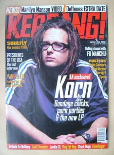 <!--1998-03-21-->Kerrang magazine - Jonathan Davis cover (21 March 1998 - I