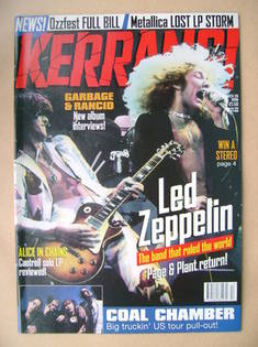 <!--1998-03-28-->Kerrang magazine - Led Zeppelin cover (28 March 1998 - Iss