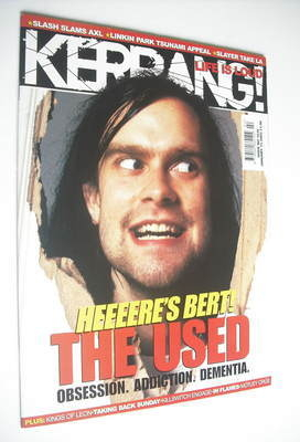 <!--2005-01-15-->Kerrang magazine - Bert McCracken cover (15 January 2005 -