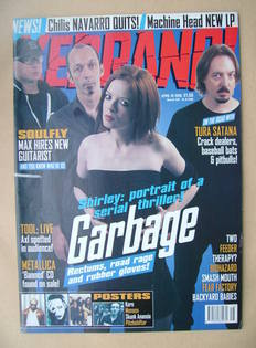 <!--1998-04-18-->Kerrang magazine - Garbage cover (18 April 1998 - Issue 69