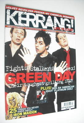 <!--2005-01-22-->Kerrang magazine - Green Day cover (22 January 2005 - Issu