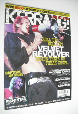 <!--2005-01-29-->Kerrang magazine - Velvet Revolver cover (29 January 2005