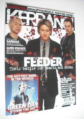 <!--2005-02-05-->Kerrang magazine - Feeder cover (5 February 2005 - Issue 1