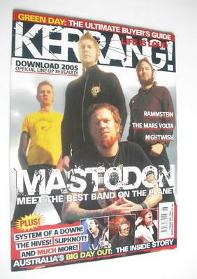 <!--2005-02-12-->Kerrang magazine - Mastodon cover (12 February 2005 - Issu