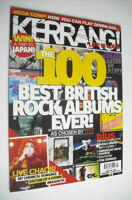 <!--2005-02-19-->Kerrang magazine - The 100 Best British Rock Albums Ever c