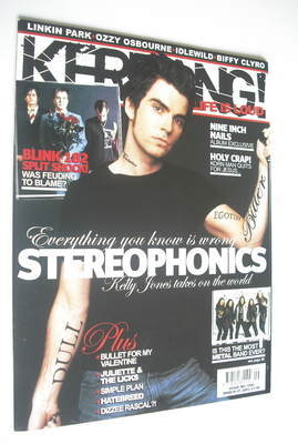 <!--2005-03-05-->Kerrang magazine - Kelly Jones cover (5 March 2005 - Issue