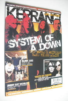 <!--2005-03-12-->Kerrang magazine - System Of A Down cover (12 March 2005 -