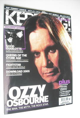 <!--2005-03-19-->Kerrang magazine - Ozzy Osbourne cover (19 March 2005 - Is
