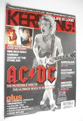 <!--2005-04-09-->Kerrang magazine - AC/DC cover (9 April 2005 - Issue 1051)