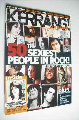 <!--2005-04-16-->Kerrang magazine - The 50 Sexiest People In Rock cover (16