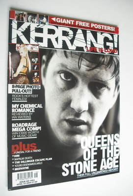 <!--2005-04-23-->Kerrang magazine - Queens Of The Stone Age cover (23 April