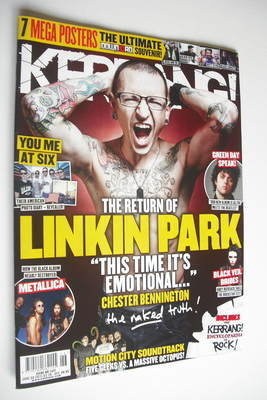<!--2012-06-30-->Kerrang magazine - Chester Bennington cover (30 June 2012
