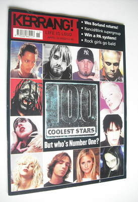 <!--2002-04-13-->Kerrang magazine - 100 Coolest Stars cover (13 April 2002