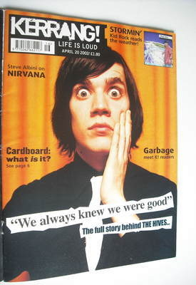 <!--2002-04-20-->Kerrang magazine - The Hives cover (20 April 2002 - Issue