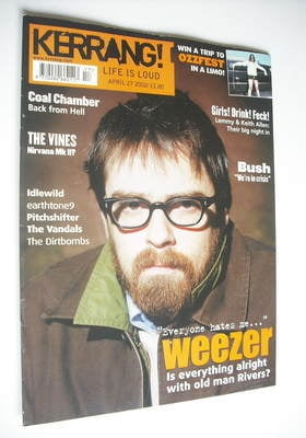 <!--2002-04-27-->Kerrang magazine - Weezer cover (27 April 2002 - Issue 901