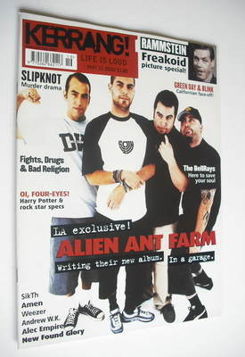 <!--2002-05-11-->Kerrang magazine - Alien Ant Farm cover (11 May 2002 - Iss