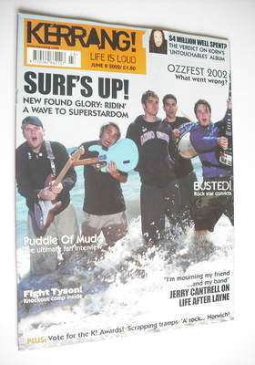 <!--2002-06-08-->Kerrang magazine - New Found Glory cover (8 June 2002 - Is