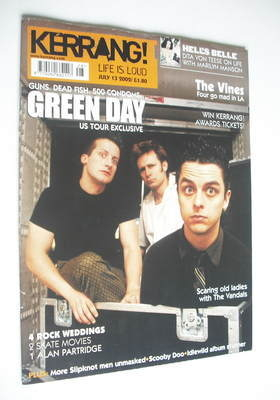 <!--2002-07-13-->Kerrang magazine - Green Day cover (13 July 2002 - Issue 9
