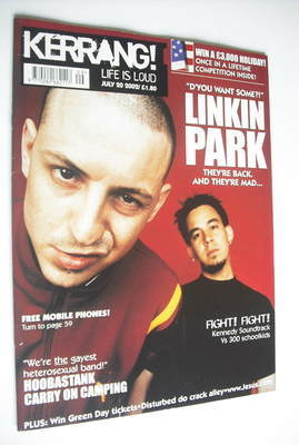 <!--2002-07-20-->Kerrang magazine - Linkin Park cover (20 July 2002 - Issue