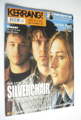 <!--2002-07-27-->Kerrang magazine - Silverchair cover (27 July 2002 - Issue