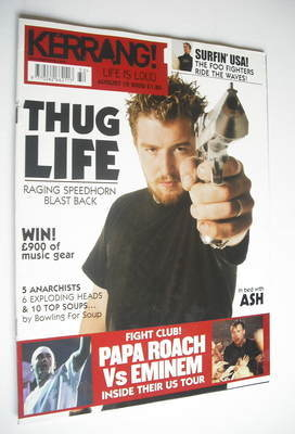 <!--2002-08-10-->Kerrang magazine - Raging Speedhorn cover (10 August 2002