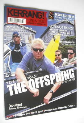 <!--2002-08-17-->Kerrang magazine - The Offspring cover (17 August 2002 - I