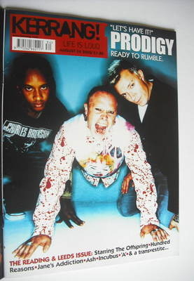 <!--2002-08-24-->Kerrang magazine - The Prodigy cover (24 August 2002 - Iss