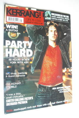 <!--2002-08-31-->Kerrang magazine - Ash cover (31 August 2002 - Issue 919)