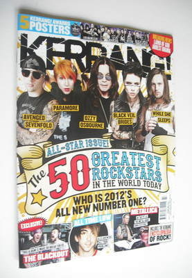 <!--2012-07-07-->Kerrang magazine - The 50 Greatest Rock Stars cover (7 Jul