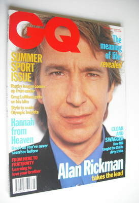 <!--1992-07-->British GQ magazine - July 1992 - Alan Rickman cover