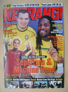 <!--1998-07-25-->Kerrang magazine - Sepultura cover (25 July 1998 - Issue 7