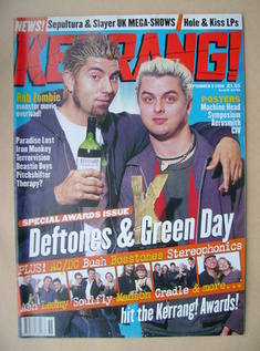 <!--1998-09-05-->Kerrang magazine - Chino Moreno and Billie Joe Armstrong c