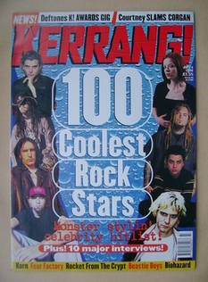 <!--1998-07-04-->Kerrang magazine - 100 Coolest Rock Stars cover (4 July 19