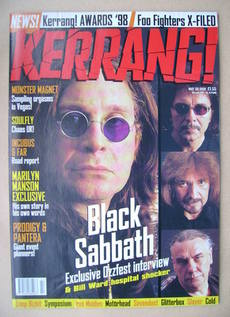 <!--1998-05-30-->Kerrang magazine - Black Sabbath cover (30 May 1998 - Issu