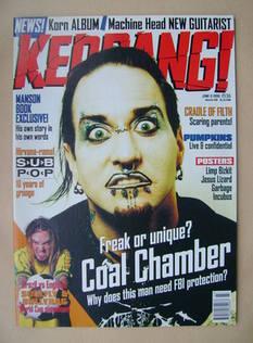 <!--1998-06-06-->Kerrang magazine - Dez Fafara cover (6 June 1998 - Issue 7