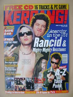<!--1998-06-13-->Kerrang magazine - Tim Armstrong and Lars Frederiksen cove