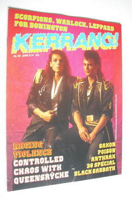 <!--1986-06-12-->Kerrang magazine - Queensryche cover (12-25 June 1986 - Is