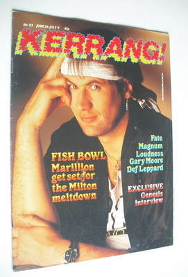 <!--1986-06-26-->Kerrang magazine - Marillion cover (26 June - 9 July 1986