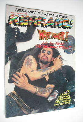 <!--1986-07-10-->Kerrang magazine - Zodiac Mindwarp cover (10-23 July 1986
