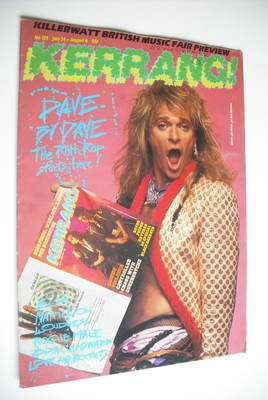 <!--1986-07-24-->Kerrang magazine - David Lee Roth cover (24 July - 6 Augus