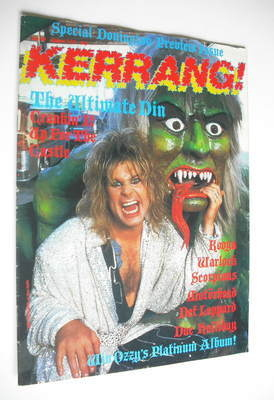 <!--1986-08-07-->Kerrang magazine - Ozzy Osbourne cover (7-20 August 1986 -