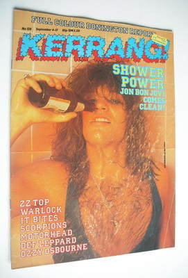 <!--1986-09-04-->Kerrang magazine - Jon Bon Jovi cover (4-17 September 1986