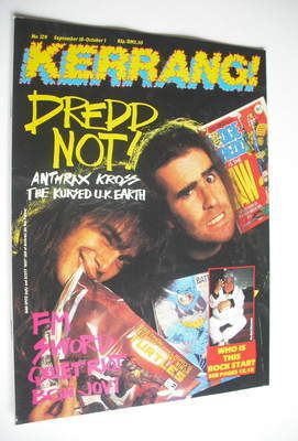 <!--1986-09-18-->Kerrang magazine - Anthrax cover (18 September - 1 October